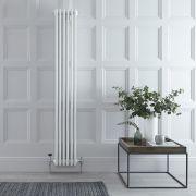 Radiatore di Design Verticale a 4 Colonne Tradizionale - Bianco - 1800mm x 290mm x 133mm - 1615 Watt - Regent