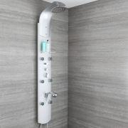 Pannello Doccia in Alluminio Completo di Miscelatore Termostatico - Baya