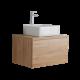 Mobile Bagno 600mm Colore Rovere Dorato con Lavabo da Appoggio Disponibile con Opzione LED - Newington