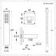 Kit Doccia con Finitura in Nichel Spazzolato Completo di Miscelatore Doccia Manuale ad 1 Via con Doccetta Quadrata - Harting