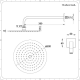 Kit Doccia in Nichel Spazzolato Completo di Miscelatore Doccia Termostatico a 3 Vie con Soffione Doccia Circolare 200mm, Doccetta e 4 Idrogetti - Aldwick