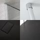 Kit Doccia Walk-In 1400 x 900 mm con Puntello da Pavimento a Soffitto e Piatto Doccia in Antracite