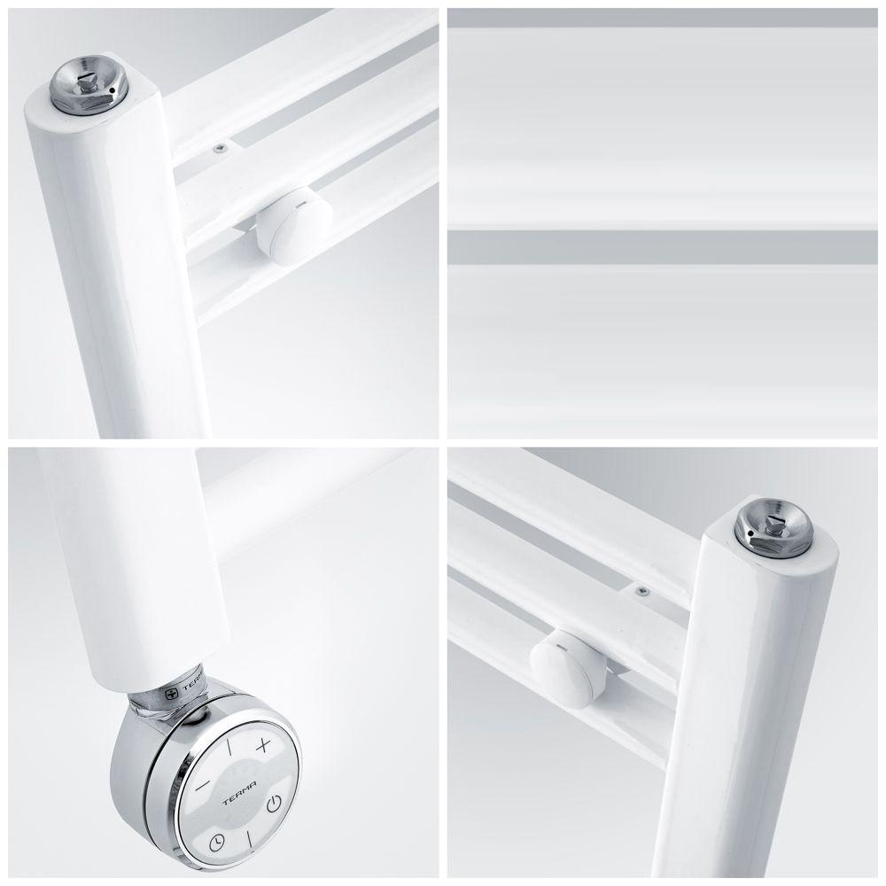 Radiatore Scaldasalviette Elettrico Curvo Bianco