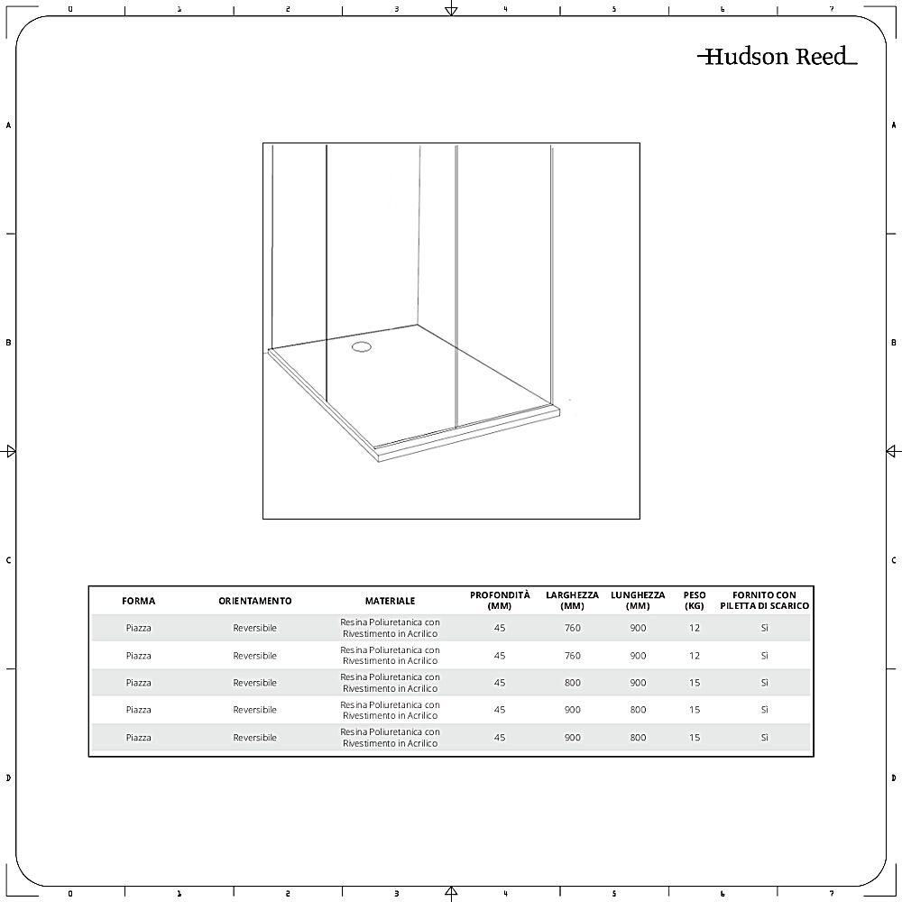Misure Box Doccia.Piatto Doccia Quadrato Disponibile In Diverse Misure Maxon