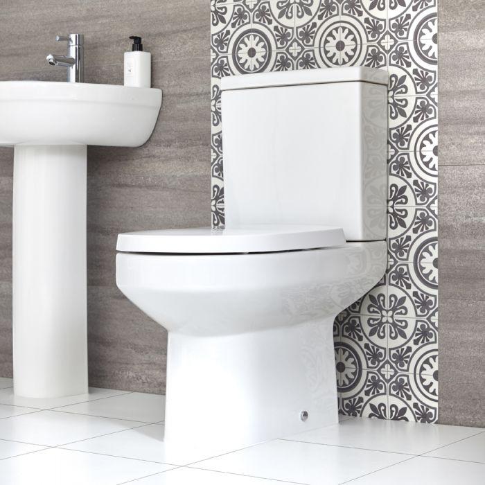 Sanitario Filo Muro d'Appoggio con Sedile WC con Chiusura Rallentata - Covelly