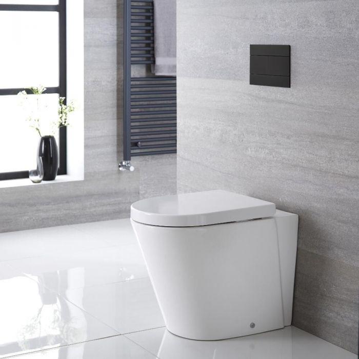 Sanitario Bagno WC Ovale 460x360x565mm con Sedile Copri WC Soft Close -  Alswear