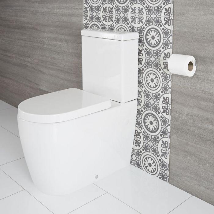 Sanitario Filo Parete Appoggio con Sedile WC con Chiusura Rallentata - Otterton