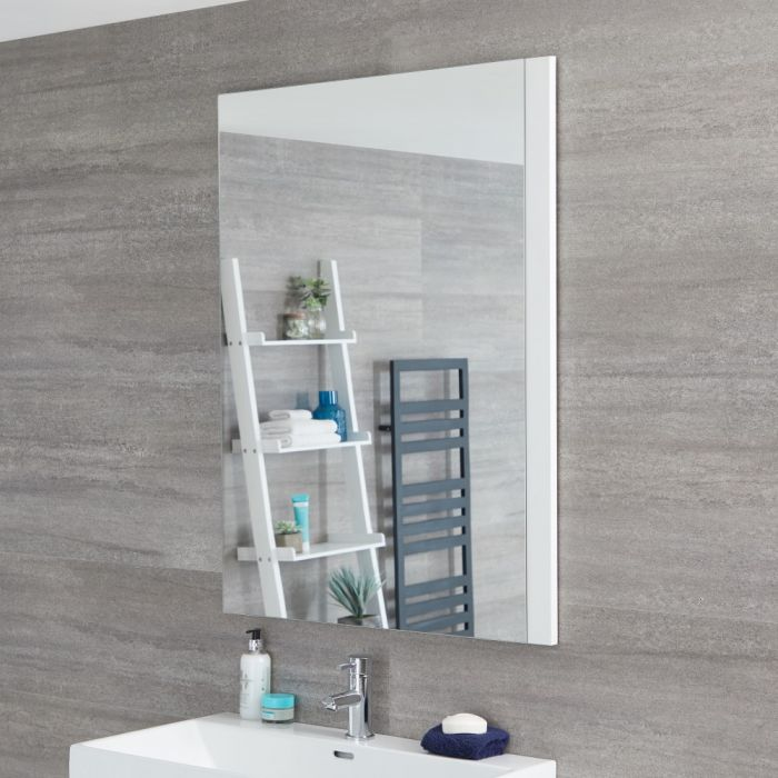 Specchio Bagno Murale 750x1000mm Colore Bianco Opaco - Newington