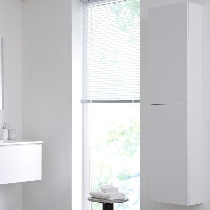 Armadietto Alto da Bagno 350x1500mm Colore Bianco Opaco - Newington