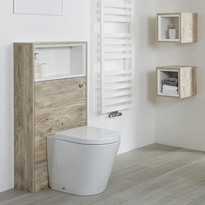 Mobile WC per Stanza da Bagno 600mm Colore Rovere Chiaro Design Aperto - Hoxton