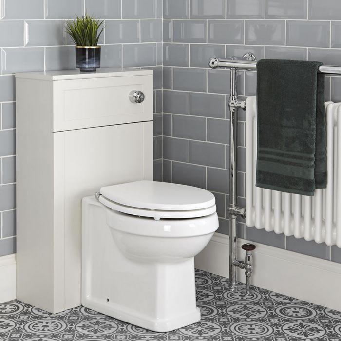 Mobile Tradizionale 500mm con Sanitario WC Filo Parete – Bianco Antico - Thornton