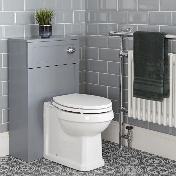 Mobile Tradizionale 500mm con Sanitario WC Filo Parete – Grigio Chiaro - Thornton