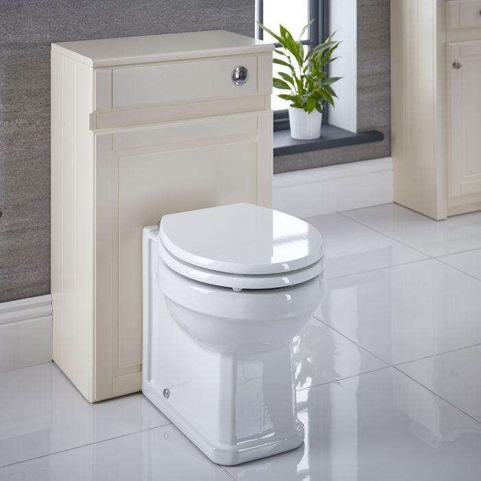 Mobile WC Colore Avorio Tradizionale 500mm Completo di Sanitario, Cassetta e Vaso Copri WC  - Charlton