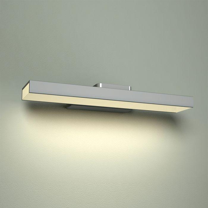 Applique LED IP44 Alluminio con Finitura Cromata per Specchiera - Parade