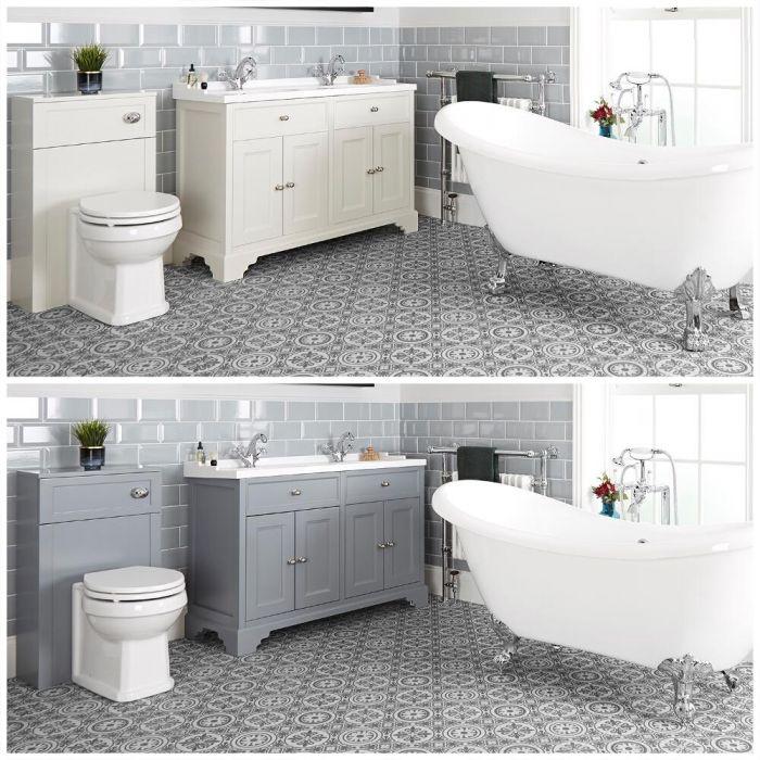 Set bagno Tradizionale con Vasca Freestanding, Mobile da 1200mm e Sanitario WC - Thornton