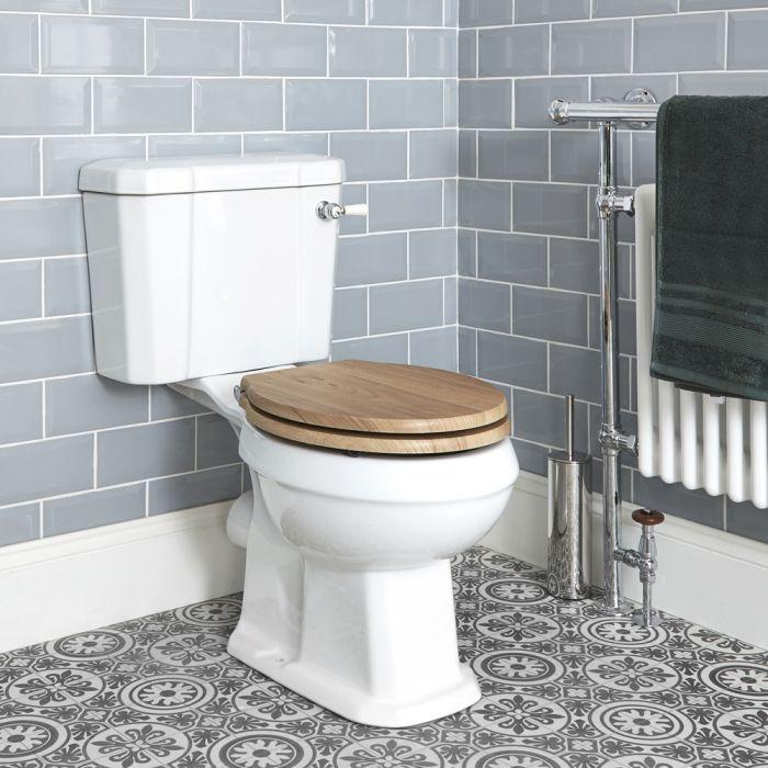 Sanitario a Terra in Stile Retrò Classico con Vaso e Cisterna in Ceramica e Sedile - Richmond