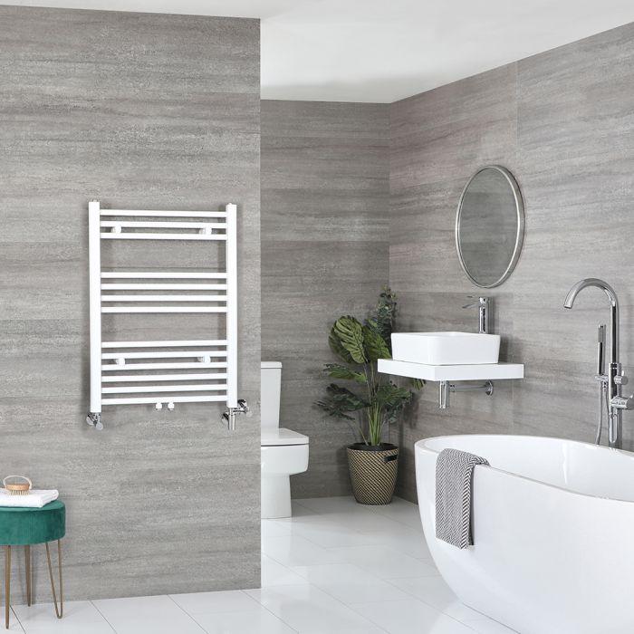 Scaldasalviette Misto Piatto - Termoarredo Bagno Bianco - 803 x 600mm - 484W - Neva