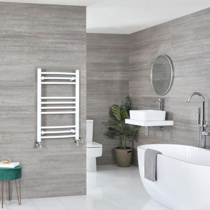 Scaldaslviette Misto Curvo - Termoarredo Bagno Bianco - 800 x 500mm - 372W - Ive
