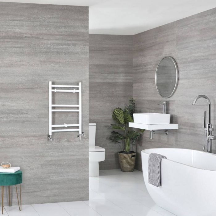 Scaldaslviette Misto Piatto - Termoarredo Bagno Bianco - 600 x 400mm - 219W - Ive