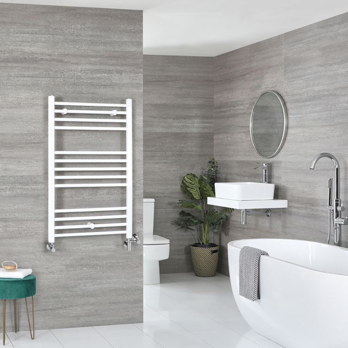 Scaldaslviette Misto Piatto - Termoarredo Bagno Bianco - 1000 x 600mm - 555W - Ive
