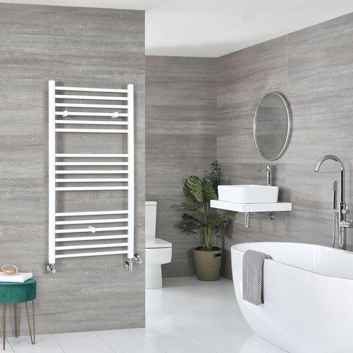 Scaldaslviette Misto Piatto - Termoarredo Bagno Bianco - 1200 x 600mm - 681W - Ive