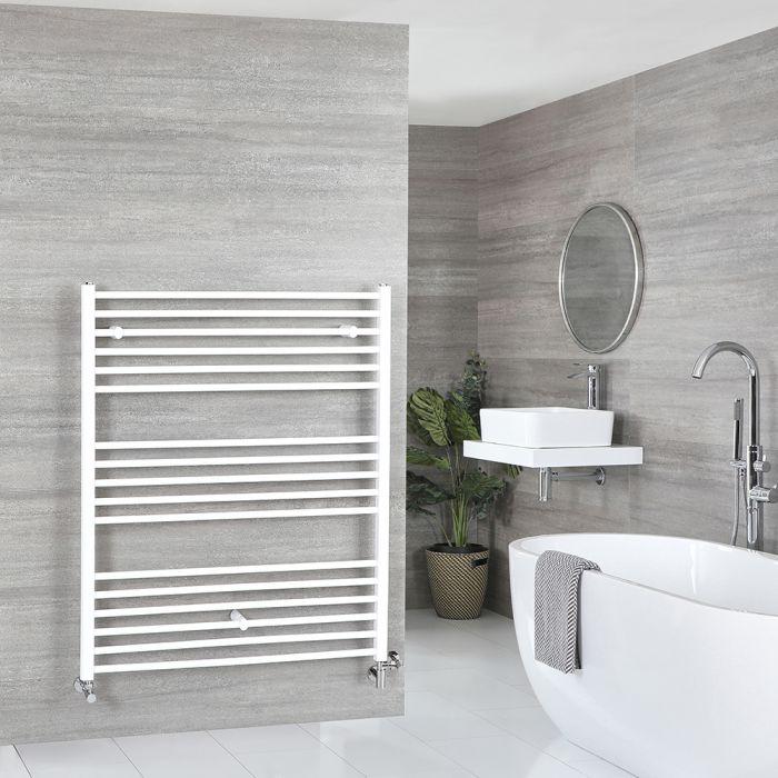 Scaldaslviette Misto Piatto - Termoarredo Bagno Bianco - 1200 x 1000mm - 1043W - Ive