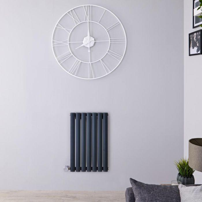 Radiatore di Design Elettrico Orizzontale - Antracite - 635mm x 415mm x 55mm  - Elemento Termostatico  400W  - Revive