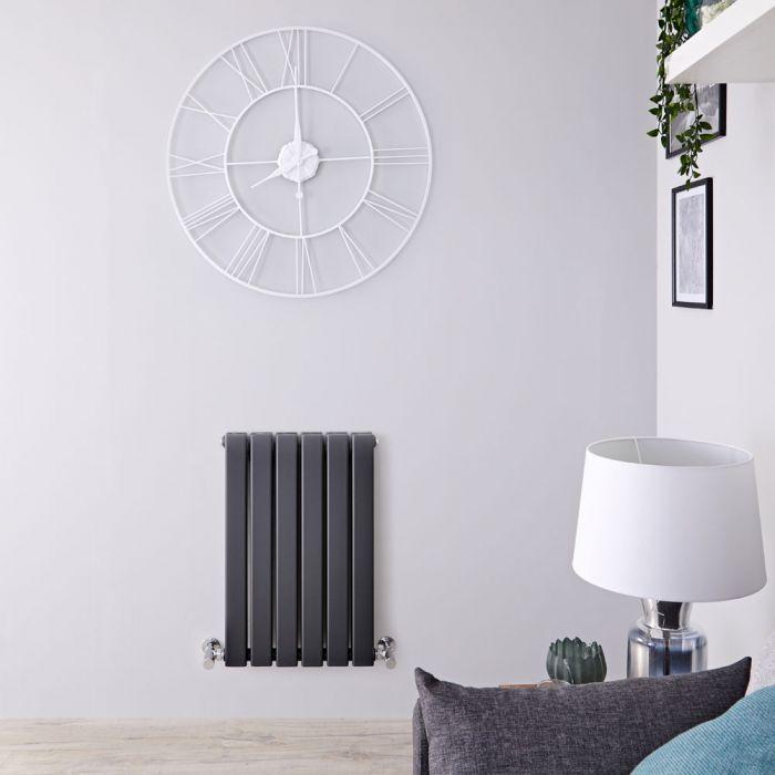 Radiatore di Design Orizzontale Doppio - Antracite - 635mm x 420mm x 58mm - 573 Watt - Delta
