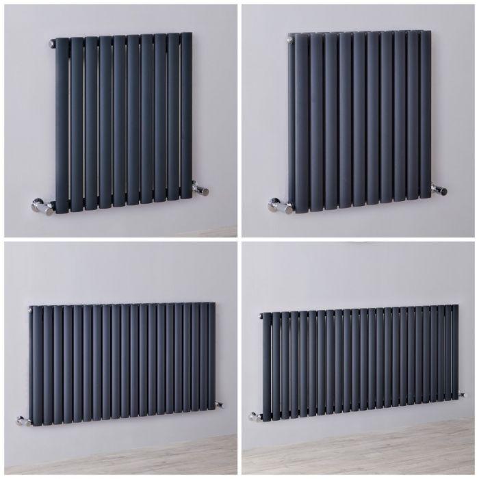 Radiatore Design Orizzontale Antracite Disponibile in Diverse Misure - Revive