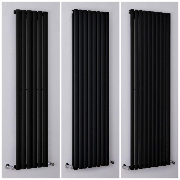 Radiatore Design Verticale Nero Opaco Disponibile in Diverse Misure - Revive