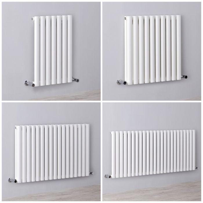 Radiatore di Design Orizzontale Bianco - Revive - Disponibile in Diverse Misure