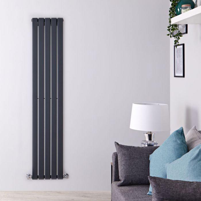 Radiatore di Design Verticale - Antracite - 1600mm x 350mm x 47mm - 733 Watt - Delta