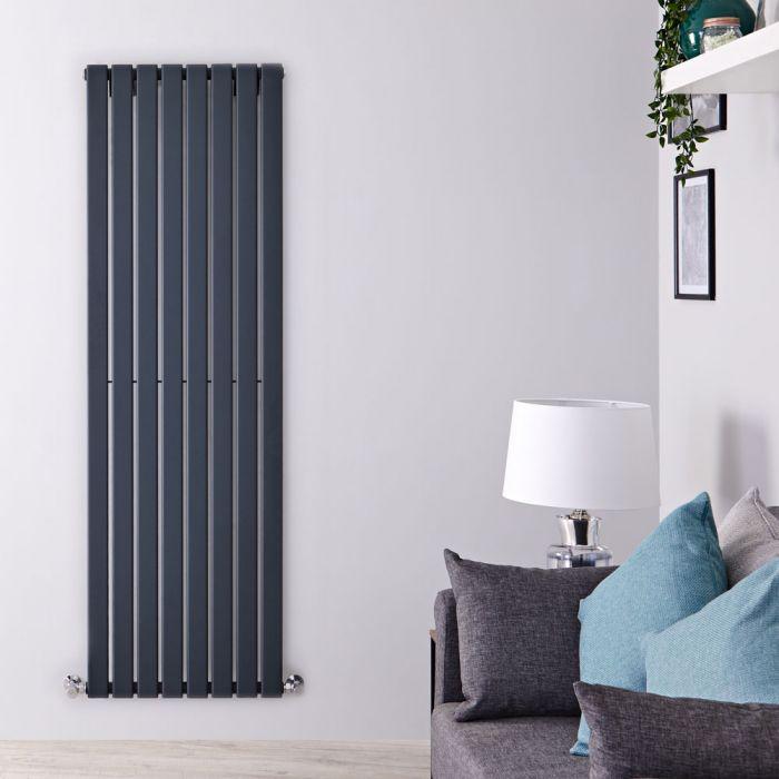 Radiatore di Design Verticale - Antracite - 1600mm x 560mm x 47mm - 1172 Watt - Delta