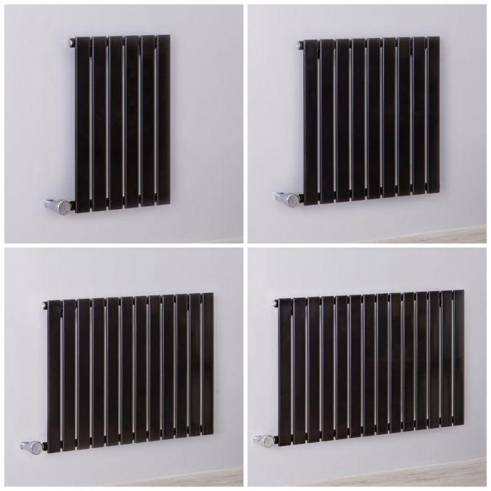 Radiatore Elettrico di Design Orizzontale Delta – 635mm – Nero – Diverse Misure