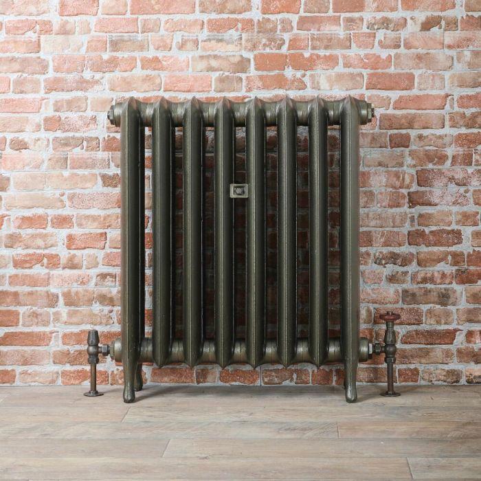 Radiatore Tradizionale in Ghisa 760mm - Colonne Ovali - Colore Ottone Antico - Erté - Disponibile in Diverse Misure