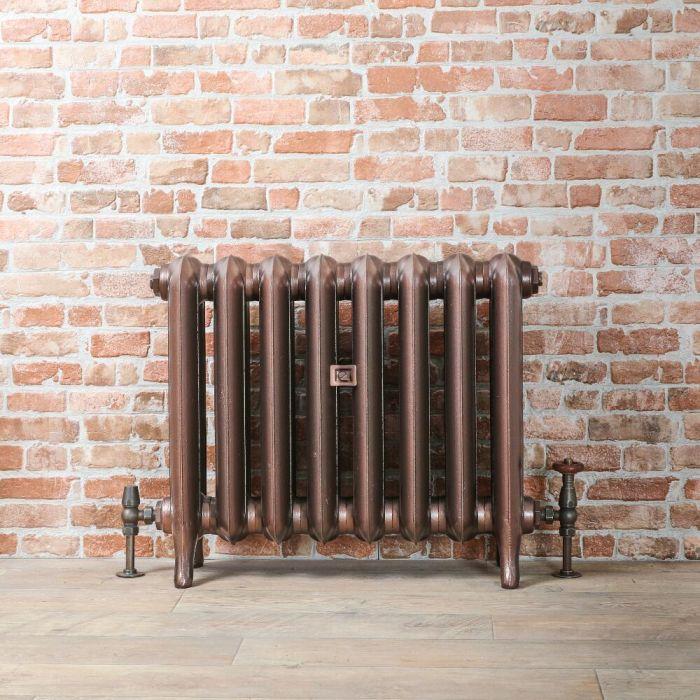Radiatore Tradizionale in Ghisa 560mm - Colonne Ovali - Colore Rame Antico - Erté - Disponibile in Diverse Misure