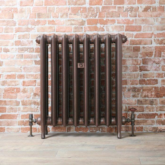 Radiatore Tradizionale in Ghisa 760mm - Colonne Ovali - Rame Antico - Erté - Disponibile in Diverse Misure
