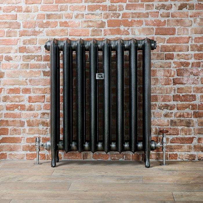 Radiatore Tradizionale in Ghisa 760mm - Colonne Ovali - Color Peltro Scuro - Erté - Disponibile in Diverse Misure