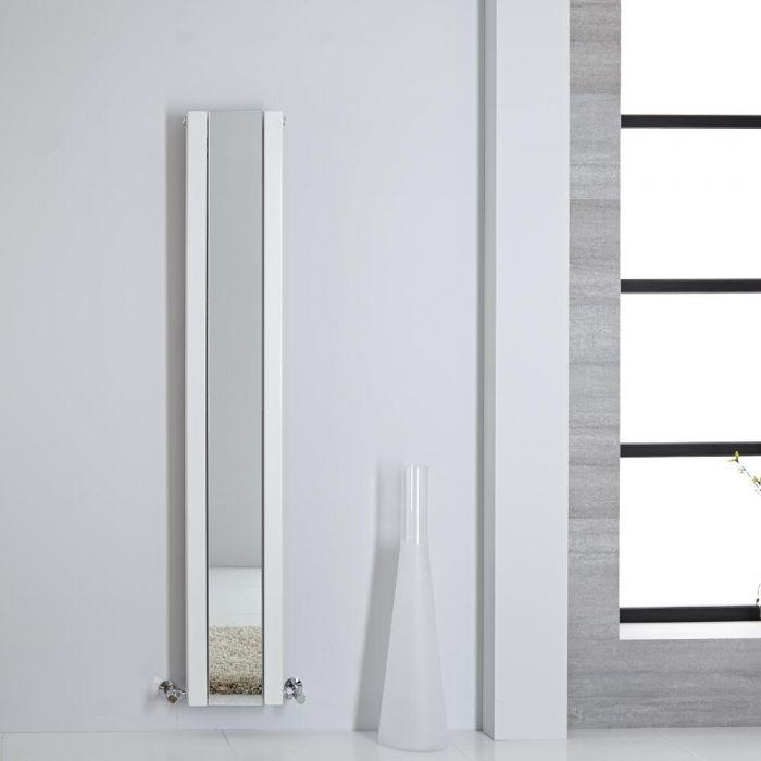 Radiatore di Design - Verticale Con Specchio - Bianco - 1600mm x 265mm - 789 Watt - Sloane