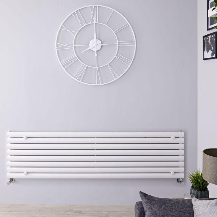 Radiatore di Design Orizzontale - Bianco - 472mm x 1600mm x 55mm - 1065 Watt - Revive