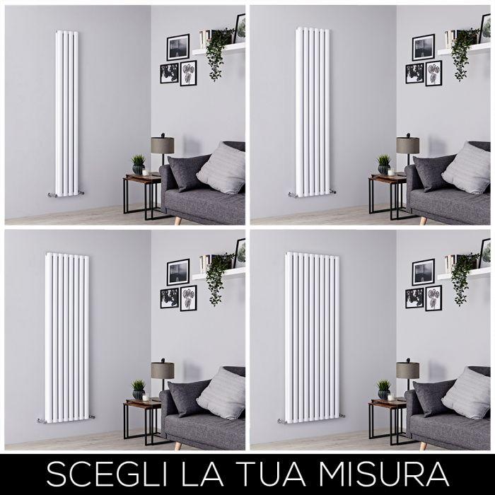 Radiatore di Design Verticale 1800mm Bianco - Revive Air - Disponibile in Diverse Misure