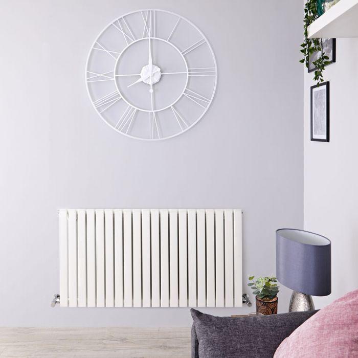 Radiatore di Design Orizzontale  - Bianco - 635mm x 834mm x 54mm - 842 Watt - Sloane