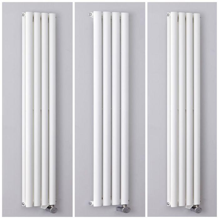Radiatore Elettrico di Design Verticale Bianco 236mm - Revive - Disponibile in Diverse Misure