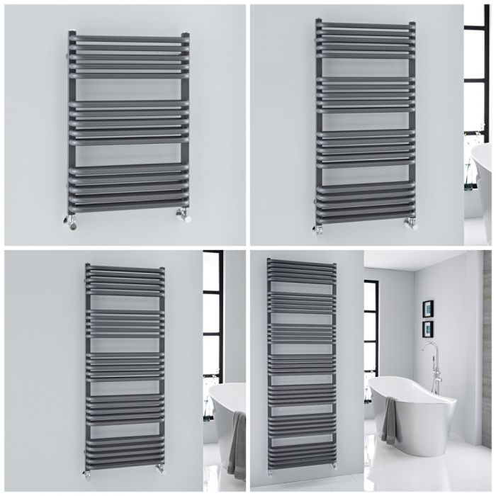 Radiatore Scaldasalviette Curvo – Antracite – Arch – Diverse Misure