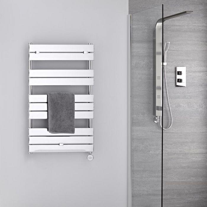 Scaldasalviette Elettrico Cromato - Termoarredo Bagno di Design 400W - 1000 x 600mm - Lustro