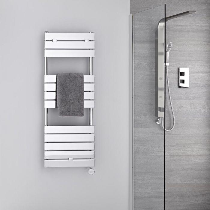 Scaldasalviette Elettrico Cromato - Termoarredo Bagno di Design 400W - 1213 x 450mm - Lustro