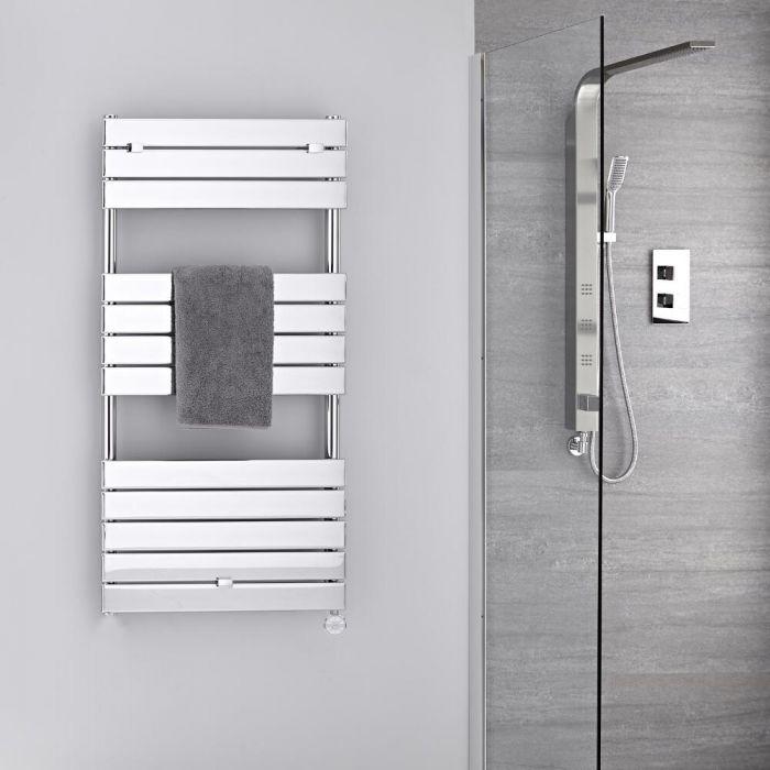 Radiatore Scaldasalviette Elettrico -  Piatto - Cromato - 1213mm x 600mm - Lustro
