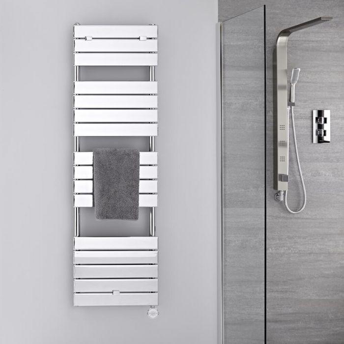 Scaldasalviette Elettrico Cromato - Termoarredo Bagno di Design 600W - 1512 x 450mm - Lustro