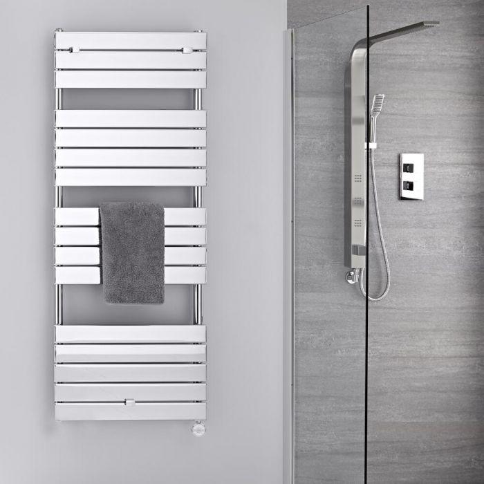 Scaldasalviette Elettrico Cromato - Termoarredo Bagno di Design 600W - 1512 x 600mm - Lustro