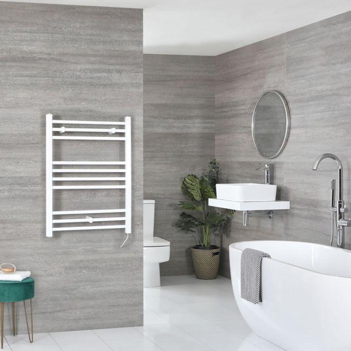 Scaldasalviette Elettrico Piatto 200W - Termoarredo Bagno Bianco - 800 x 500mm - Ive
